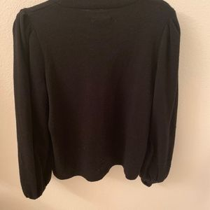 Madewell Black Sweater Blouse
